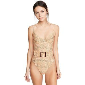 WeWoreWhat Danielle Snake-Print Swimsuit NWT
